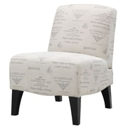Emerald Home Furnishings Carrie Fabric Slipper Chair; Platinum