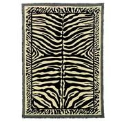DonnieAnn Company Kingdom Beige Animal Skin Print Rug