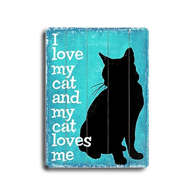 Artehouse LLC I Love My Cat Planked by Kate Ward Thacker Graphic Art Plaque