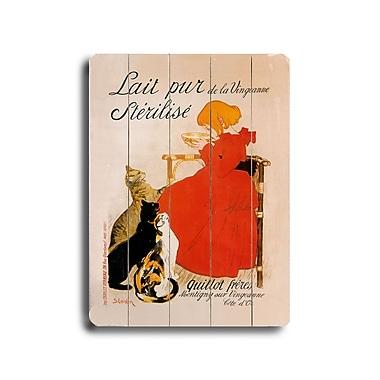 Artehouse LLC Lait Pur Planked by Theophile-Alexandre Steinlen Vintage Advertisement Plaque