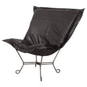 Howard Elliott Puff Scroll Avanti Lounge Chair; Black