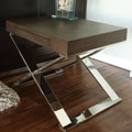 Pangea Home Mason End Table; Espresso