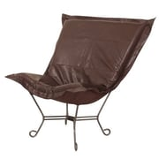 Howard Elliott Puff Scroll Avanti Lounge Chair; Pecan