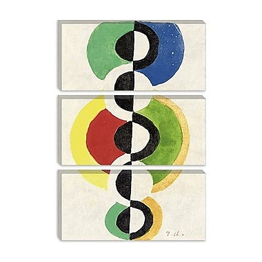 iCanvas 'Rythme' by Robert Delaunay Graphic Art on Canvas; 26'' H x 18'' W x 0.75'' D