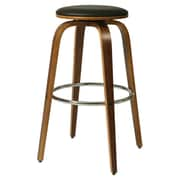 Pastel Furniture Yohkoh 30'' Bar Stool with Cushion; Black