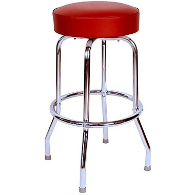 Richardson Seating Retro Home Backless 30'' Swivel Bar Stool; Wine
