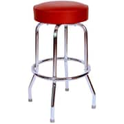 Richardson Seating Retro Home 30'' Swivel Bar Stool with Cushion; Wine