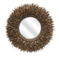 IMAX Lux Coco Shell Round Mirror