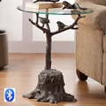 SPI Home Birds and Branch End Table with Bluetooth Speakers