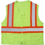 Mutual Industries MiViz ANSI Class 2 High Visibility Mesh Safety Vest, Lime, Small/Medium