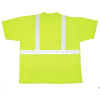 Mutual Industries ANSI Class 2 Tee Shirt, Lime, Medium