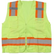 Mutual Industries MiViz Lime ANSI Class 2 High Visibility Mesh Surveyor Vests
