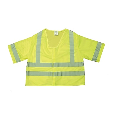 Mutual Industries MiViz Lime ANSI Class 3 Mesh Safety Vests With Silver Reflective