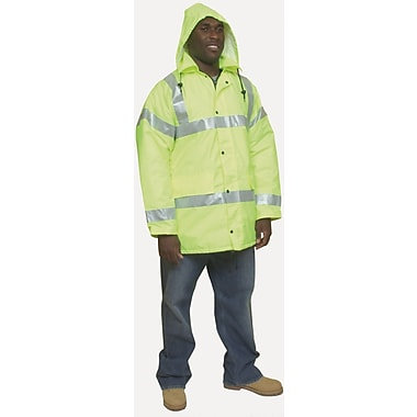 Mutual Industries ANSI Class 3 Winter Parka, Lime, 2XL