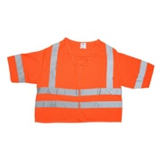 Mutual Industries Gann ANSI Class 3 Solid Durable Flame Retardant Safety Vest, Orange, Large