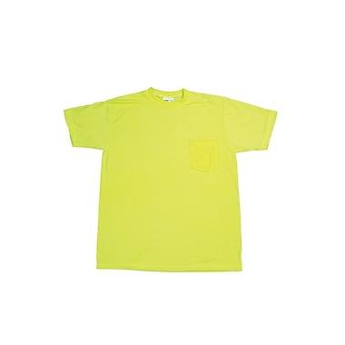 Mutual Industries Gann Durable Flame Retardant Plain Tee Shirt, Lime, XL