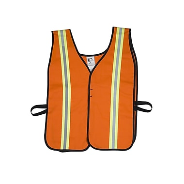 Mutual Industries MiViz High Visibility Flame Retardant Welders Vest, Orange, 3XL