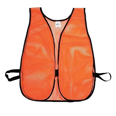 Mutual Industries MiViz Plain Soft Mesh Safety Vest, Orange