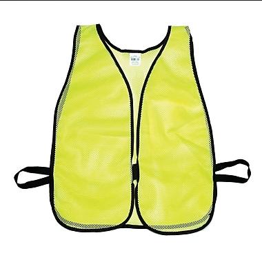 Mutual Industries MiViz Plain Soft Mesh Safety Vest, Lime