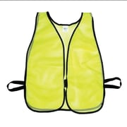 Mutual Industries MiViz Plain Soft Mesh Safety Vest, Lime