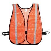 "Mutual Industries MiViz Heavy Weight Safety Vest With 1 3/8"" Silver Reflective, Orange"