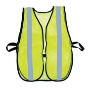 "Mutual Industries MiViz Soft Mesh Safety Vest With 1"" Silver Reflective, Lime"