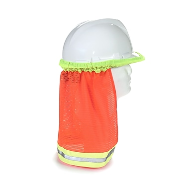 Mutual Industries Kromer ANSI Hard Hat Neck Shade With Reflective Stripes, Orange
