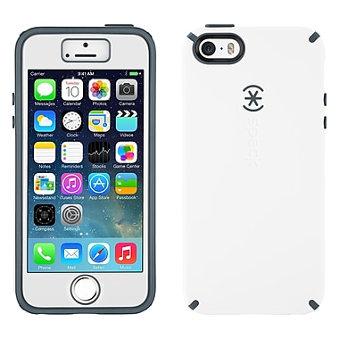 Speck® CandyShell Case With FacePlate For iPhone 5/5S, White/Charcoal Gray