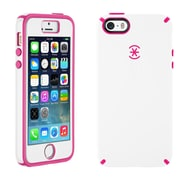 Speck® CandyShell Case With FacePlate For iPhone 5/5S, White/Raspberry Pink