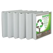 Samsill Earth's Choice Clear 1-Inch Round 3-Ring View Binder, White (I08937)