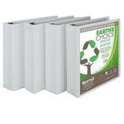Samsill® Earth's Choice Biodegradable View 2 Capacity Round Ring Binder, White