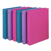 Samsill® Fashion Value 1 Capacity Round Ring Binder, Assorted