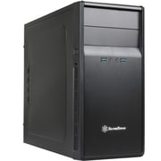 SilverStone® Precision PS09 Micro ATX Mid Tower Black Computer Case With Foam Padded Side Panel