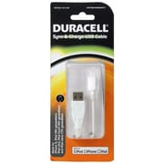 Duracell® USB/Lightning Sync and Charge Cable For iPhone 5, Black