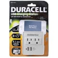 Duracell® 245 J Dual USB Surge Protector, White