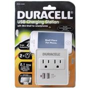 Duracell® 245 J Dual USB Surge Protector, White