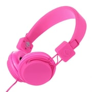 Subjekt TNT Low Profile Headphone With Mic, Hot Pink