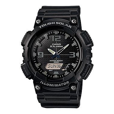 Casio® AQS810W Solar Analog/Digital Wrist Watch, Black/Grey