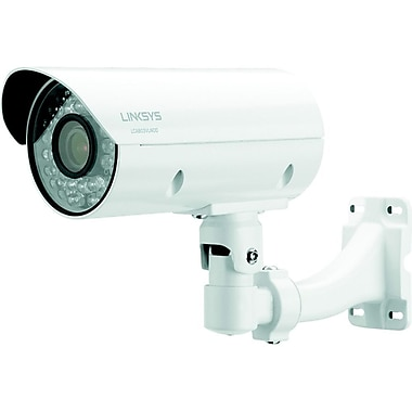 Linksys LCAB03VLNOD Wired Bullet Camera with Night Vision, White