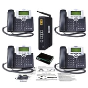 XBlue Networks XB25 4-Phones Line Business VoIP System for Small Business, Silver