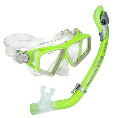 Aqua Lung® U.S. Divers® Lanai Paradise Jr, Snorkel Set, Green