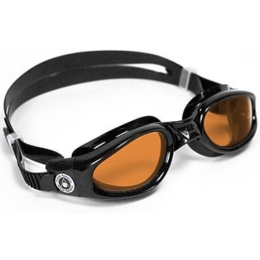 Aqua Lung® Aqua Sphere® Kaiman Regular Fit Goggle With Amber Lens, Black