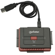 Manhattan Hi Speed USB to SATA/IDE 179195 Adapter 3 in 1 with One Touch Backup