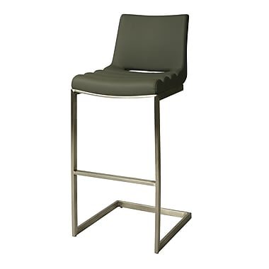 Pastel Furniture Emily Padded Leatherette Counter Stool, PU Gray