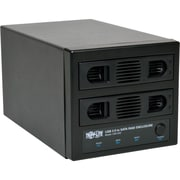 Tripp Lite® U357-002 USB 3.0 Dual Bay SATA Hard Drive RAID Enclosure With Fan