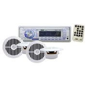 Pyle® PLMRKT34WT In-Dash Marine AM/FM Audio Accessory Kit With USB/SD/MMC Reader, White