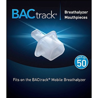 BACTRACK Mobile Breathalyzer Mouthpieces, 50/Pack 1035891