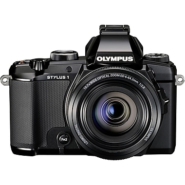 Olympus® STYLUS 1 12 MP Compact Digital Camera, Black