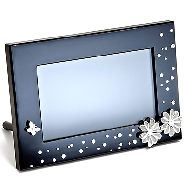 Ahlo Inc GB-711P GIINII™ 7in. Bling Digital Photo Frame, Black Daisy