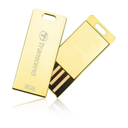 Transcend® JetFlash T3G 8GB USB 2.0 USB Flash Drive, Gold